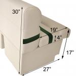 DeckMate Pontoon Bench 38in Furniture Dimensions