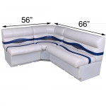 DeckMate Pontoon Seats L Shape 56x66 Benches