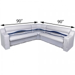 DeckMate Pontoon Seats L Shape 90x90in Benches w/arms