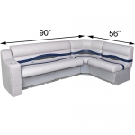 DeckMate Pontoon Seats L Shape 90x56in Benches w/Right Arm