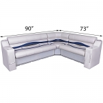 DeckMate Pontoon Seats L Shape 90x73 inches w/Arms