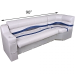 DeckMate Pontoon Seats 90in Bench and Corner Seat