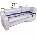 DeckMate Pontoon Seats 73in Bench with Corner Seat
