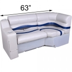 DeckMate Pontoon Bench Seats 63in with Corner Seat